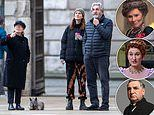 Imelda Staunton is spotted enjoy a stroll with Downton Abbey actor Jim Carter and their daughter