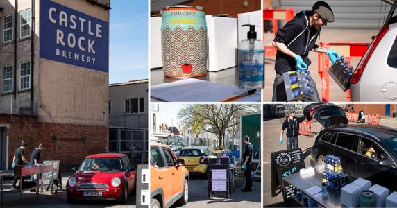 Brewery opens drive-thru for Brits to pick up beer without leaving cars