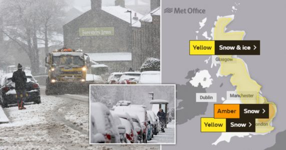 Severe weather warning for snow in London and South East