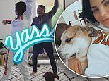 Jenna Dewan busts out her best dance moves while spending time with her newborn and family at home
