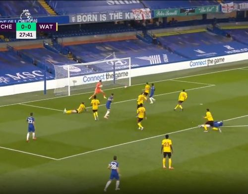 : Olivier Giroud finishes off superb Chelsea move to give Blues the lead