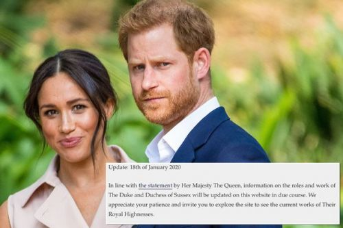 Meghan and Harry's 'Sussex Royal' brand questioned as HRH titles used on website