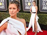 Golden Globes 2020: Extra host Renee Bargh puts on a leggy display