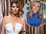 Alex Jones exudes glamour in a plunging white dress