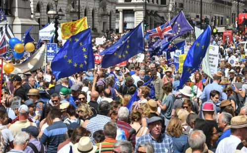 Anti-Brexit People's Vote March Banners Show British Democracy At Its Very Finest