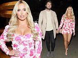 TOWIE's Amber Turner and Dan Edgar attend shoe launch after admitting their romance is criticised