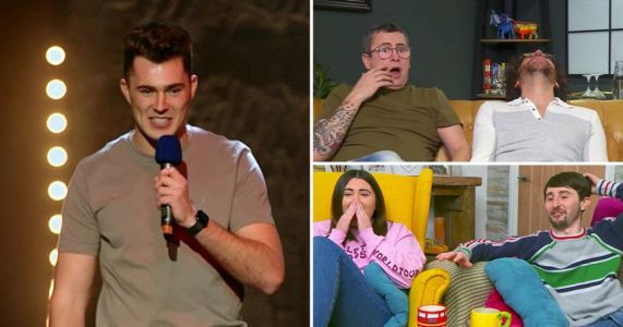 Gogglebox stars gobsmacked as Curtis Pritchard is booed off stage after comedy set: 'Pull the mic off him!'