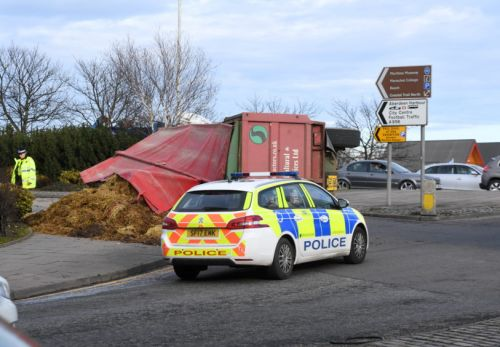 Traffic delays after trailer full of manure spills on busy Aberdeen road
