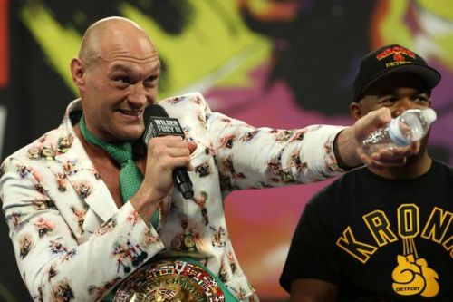 Tyson Fury rejects bottle of water over fears it is spiked after Deontay Wilder win