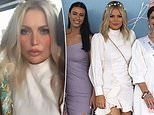 Bachelor star Keira Maguire wows in a white mini dress at the Eagle Farm Racecourse