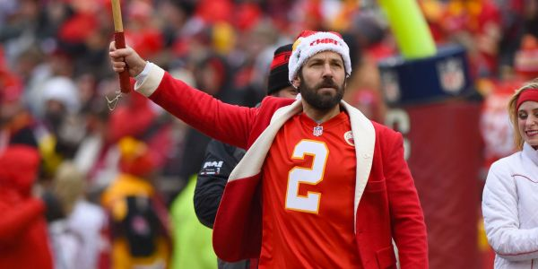 Paul Rudd was the happiest man in the Chiefs' locker room as the team celebrated their AFC title