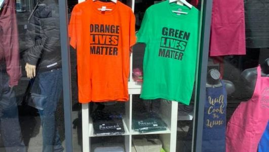 Belfast printing business boss says sorry for Orange & Green Lives T-shirts