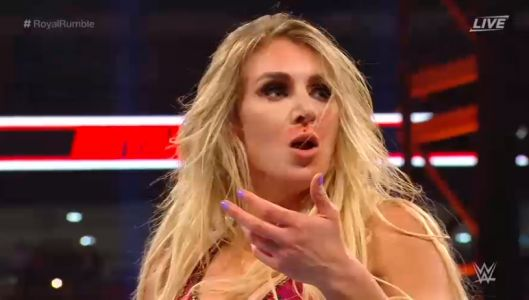 WWE star Charlotte Flair left bloodied and shouts 'you b****' on live TV after Royal Rumble row with Kelly Kelly