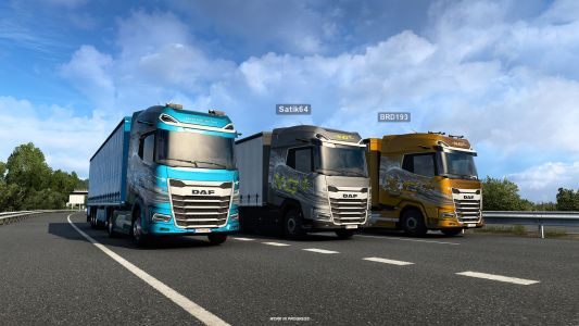 Truck Simulator's revamped force feedback and multiplayer mod support are live