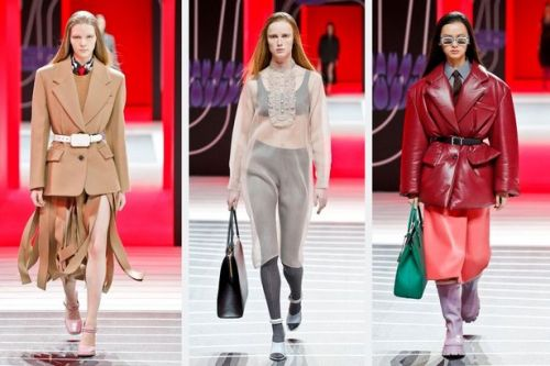 Prada introduces a new twist on classic tailoring during Milan Fashion Week