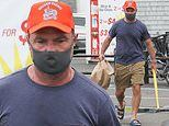 Liev Schreiber dresses casually for Hamptons grocery shop