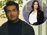 KumailNanjiani admits he was a 'little scared' to meet Angelina Jolie on the set of Eternals