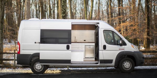 This company converts Ram ProMasters into camper vans powered by Tesla batteries - see inside