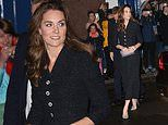 Kate Middleton looks resplendent in XX as she joins Prince William at the Noël Coward Theatre