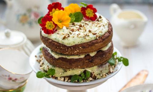 This vegan carrot cake recipe will convince you to try watercress cream cheese frosting - the new super-food craze