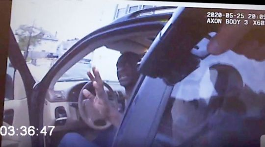 Leaked police bodycam footage shows moments before George Floyd's death