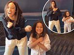 Rochelle Humes and lookalike daughter Alaia Mai, six, show off their adorable matching dance moves