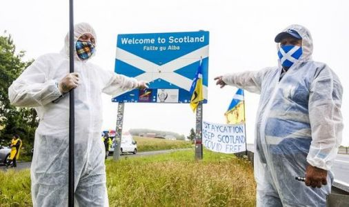 Outrage at 'disgraceful' protest on Scottish border - 'Keep Scotland COVID-Free'