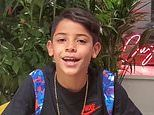 Cristiano Ronaldo's eldest son, 9, introduces himself in FOUR languages as he debuts on Instagram