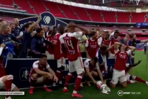 Aubameyang drops FA Cup after inspiring Arsenal to victory over Chelsea