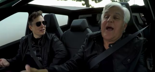 Watch Elon Musk and Jay Leno drive the Cybertruck through a tunnel beneath SpaceX's headquarters
