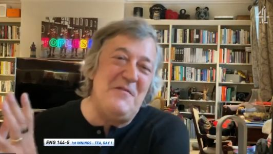 Stephen Fry lets slip he has been cast in Netflix's The Sandman during Channel 4 cricket coverage