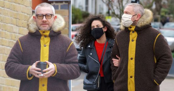 Martin Freeman unrecognisable on stroll with girlfriend after shaving head with DIY buzz cut in lockdown