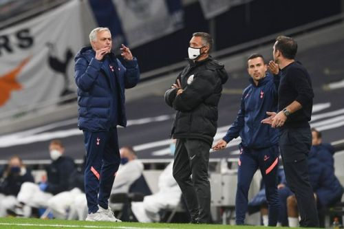 Mourinho and Lampard in X-rated touchline row during Tottenham vs Chelsea