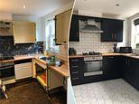 Money-savvy couple transform their once drab kitchen themselves for just £500