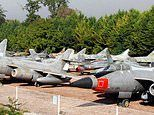 French chateau with a collection of WARPLANES