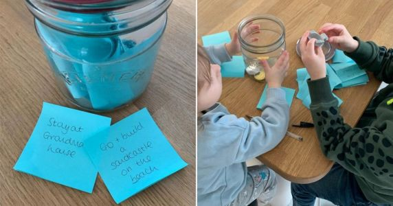 Mum makes 'magical jar' of things her children can look forward to after lockdown