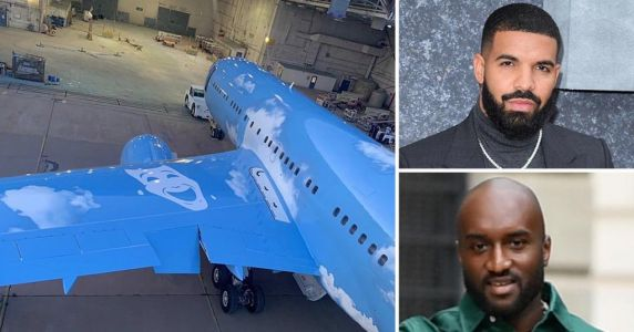 Drake gets Virgil Abloh to redesign his private jet even though we're all on lockdown