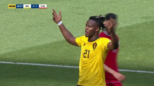 Michy Batshuayi finally scored for Belgium after missing enough chances to become Golden Boot winner