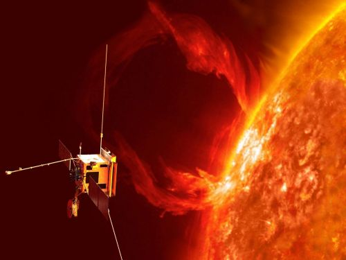 A sun-skimming spacecraft captured video of a massive plasma eruption on the solar surface for the first time