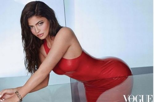 Kylie Jenner dons red latex outfit in sizzling display for latest Vogue shoot