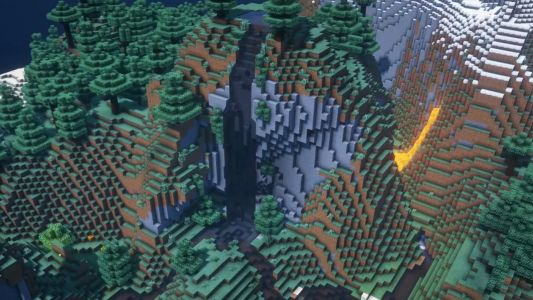 Minecraft fan concept for a River Update adds streams and waterfalls