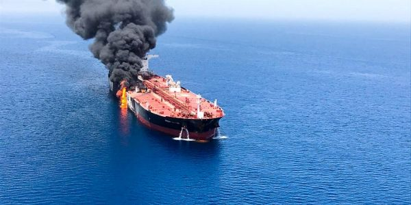Oil is being propped up by Middle East tensions after the US used video to blame Iran for tanker attacks