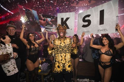 KSI lets hair down after Logan Paul fight as he enjoys swanky Vegas night out
