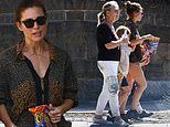 Elsa Pataky snacks on Cheetos as she takes an afternoon off training for new action film role
