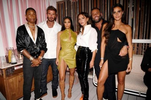 Kim Kardashian parties with Victoria and David Beckham in Miami