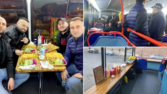 Kebab restaurant opens on board a London double decker bus