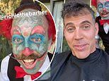 Steve-O gets his hair cut by tattooed clown Richie The Barber in LA