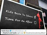 Advert encouraging parents to have affairs now children have returned to school