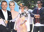 Katy Perry and Orlando Bloom look happy while leaving Kanye West and Kim Kardashian's church