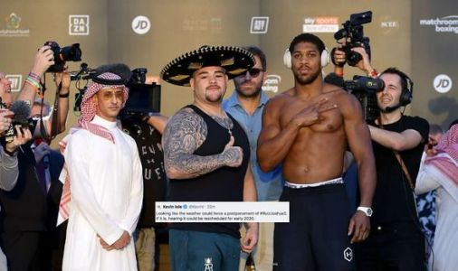 Joshua vs Ruiz 2 in danger of being postponed due to extreme weather in Saudi Arabia